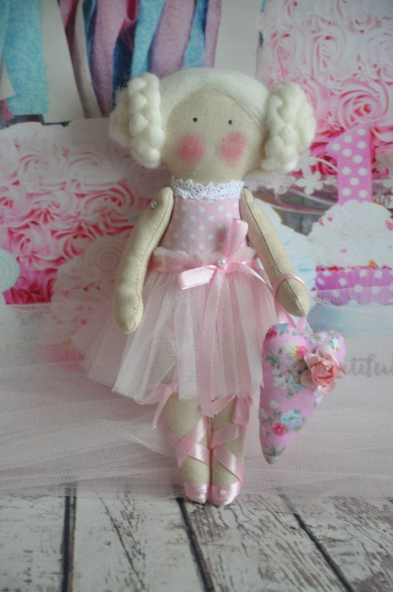 tilda little ballerina tilda doll ballerina fabric by PastilaArt