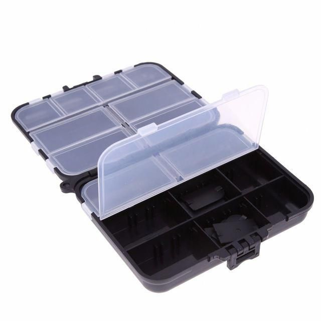 Portable Waterprooof Multiple Compartments Fly Fishing Tackle Box Lure Lures