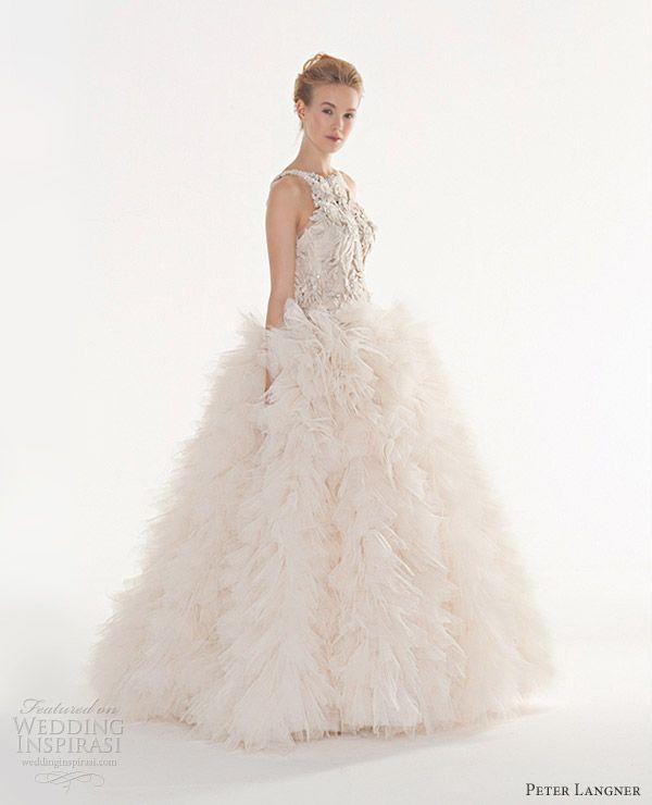 peter langner couture wedding dresses 2013 follia sleeveless ball gown