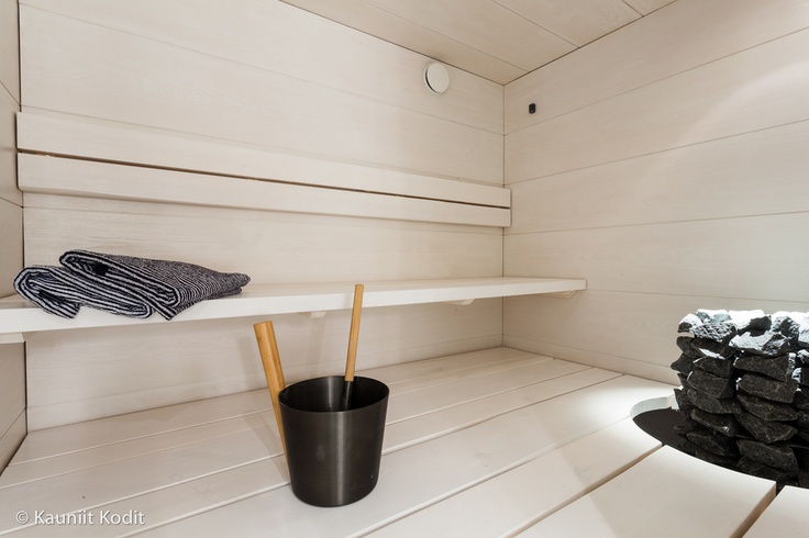 White sauna room