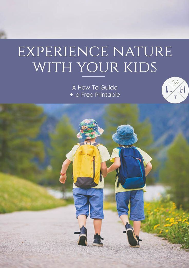 It's not hard to get out and experience nature with kids. It can be something as simple as going on a nature walk or going camping.  via @lavenderhytta
