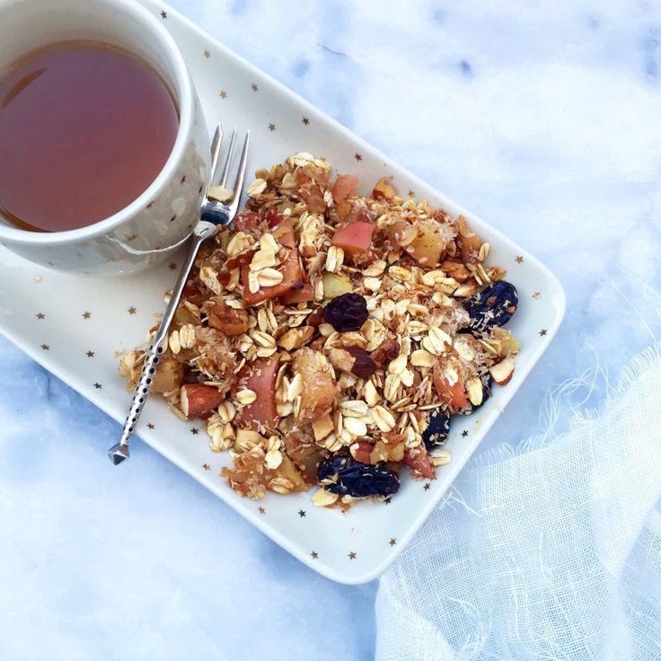 apple crumble maken - gezond havermout recept made by ellen
