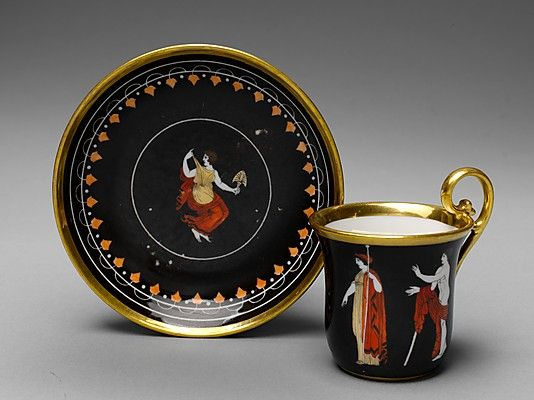 1810 French Cup and saucer at the Metropolitan Museum of Art, New York: