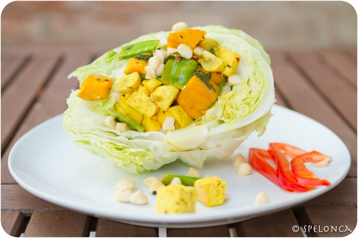 tofu curry in a lettuce bowl | Food for Thought | Pinterest | Tofu ...