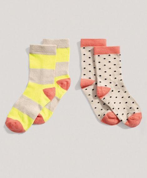 Girls 2 Pack of Colored Socks