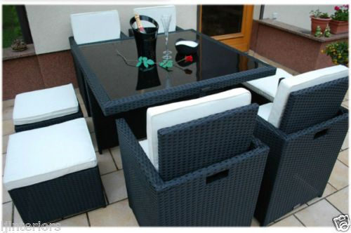 CUBE-RATTAN-GARDEN-FURNITURE-SET-CHAIRS-SOFA-TABLE-OUTDOOR-PATIO-WICKER-8-SEATER