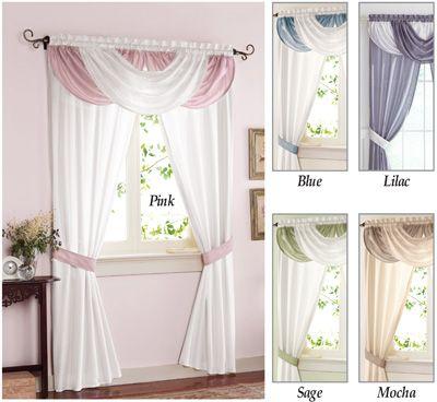 Patricia Elegant Window Curtain Drapery Collectionsetc