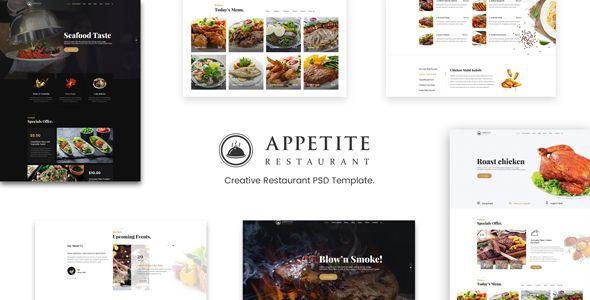 Appetite   Restaurant & Cafe PSD Template   Psd templates, Template ...