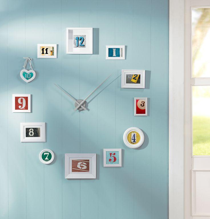 Ideal DIY Wanddeko Uhr uc diy summer