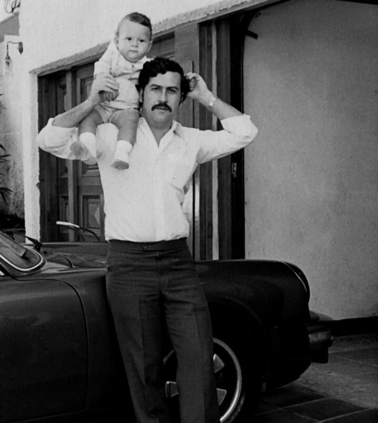 Pablo Escobar, the proud father.