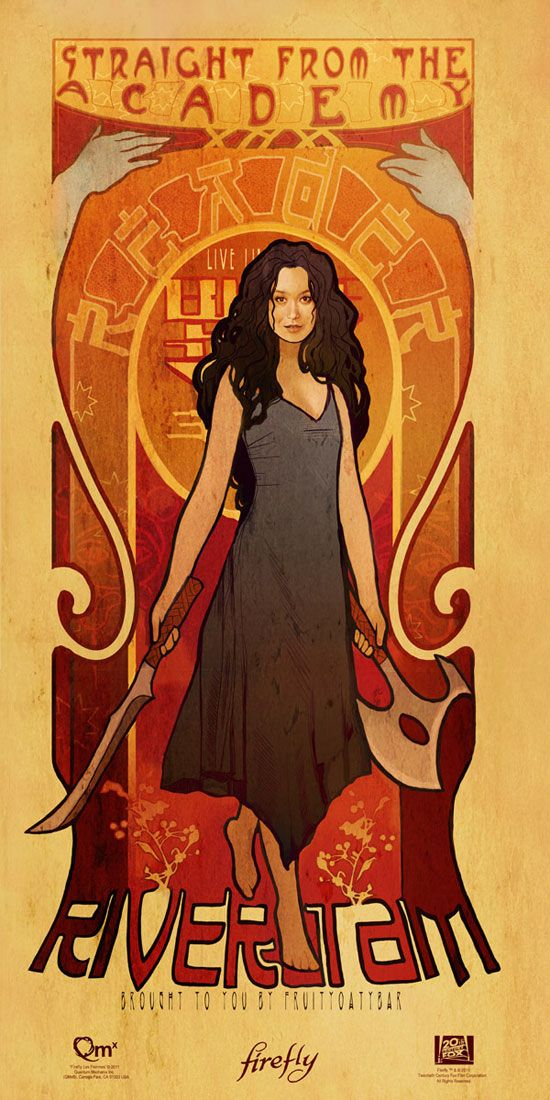Firefly Art Nouveau <-- Wish I could have gone to comic-con so I could have gotten these for my wall.