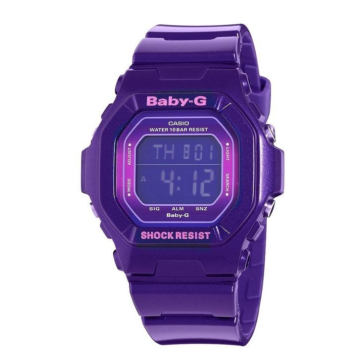 Casio Women's BG5600SA-6CR Baby-G Metallic Purple Digital Sport Watch, (casio g-shock, g shock, g-shock, solar powered, baby gshock, watches)