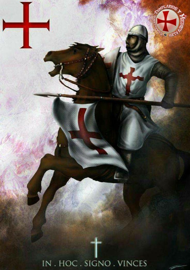 Pin on Caballeros cruzados y templarios