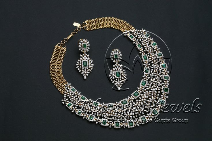 Diamond Necklace Set   Tibarumal Jewels   Jewellers of Gems, Pearls, Diamonds, and Precious Stones
