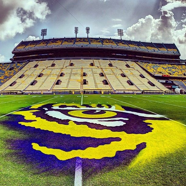 Eye of the Tiger. Tiger Stadium (a.k.a., Death Valley), Baton Rouge, Louisiana