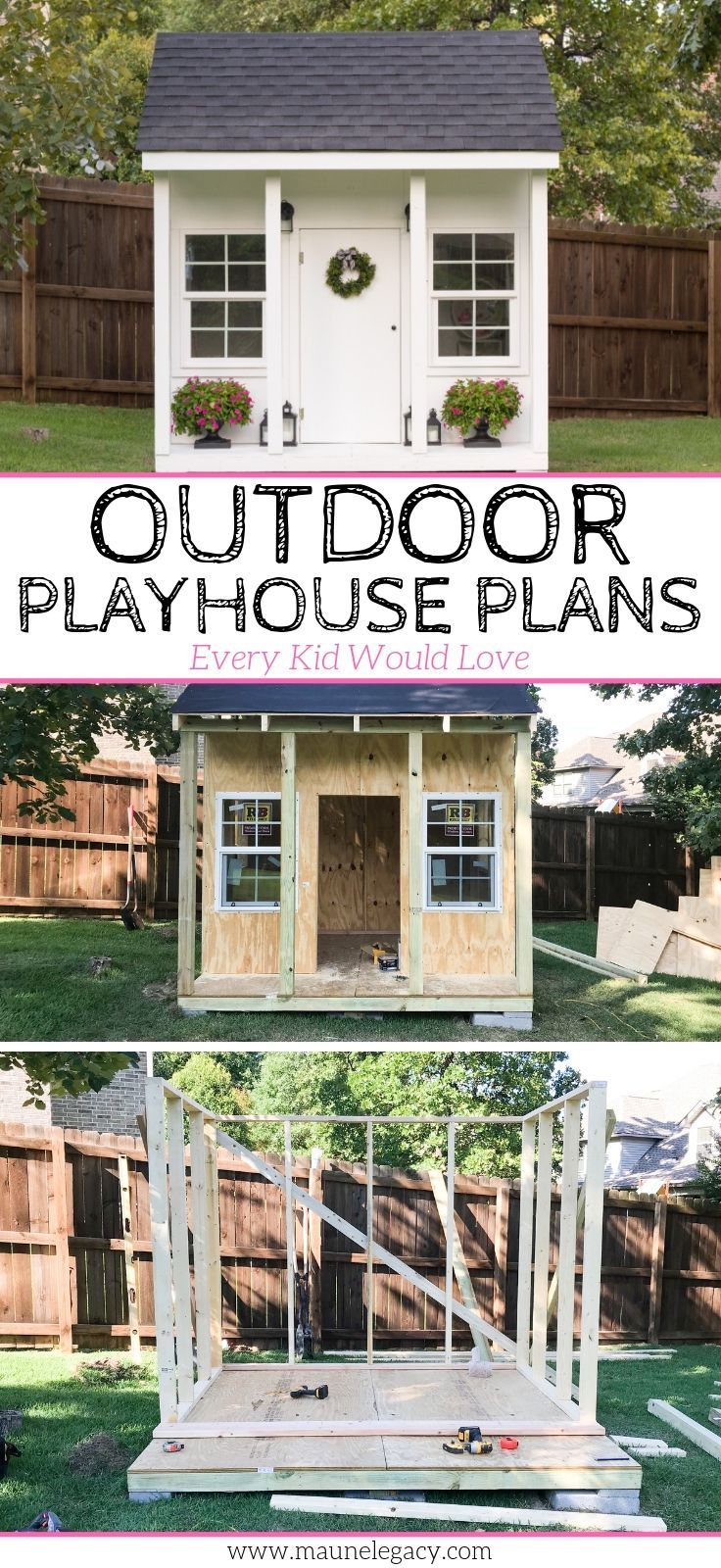 Outside Playhouse Plans