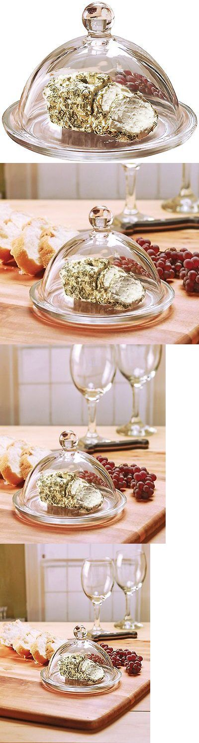Butter Dishes 103433: Circleware Dome De Fromage Mini Glass Cheese Butter Dish Dome With Tray Plate -> BUY IT NOW ONLY: $44.9 on eBay!