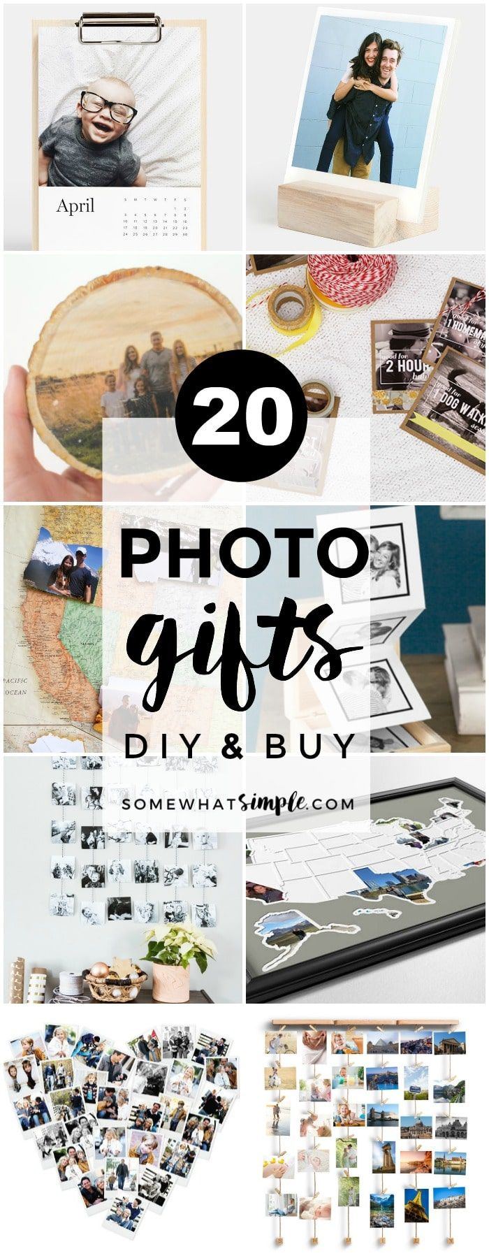 20 Favorite Photo Gifts | Personalized photo gifts are a fun and thoughtful way to share family photos and special memories with those you love!