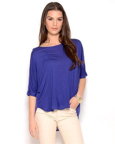 Aryn K. Dolman-Sleeved Pleated Blouse Size M