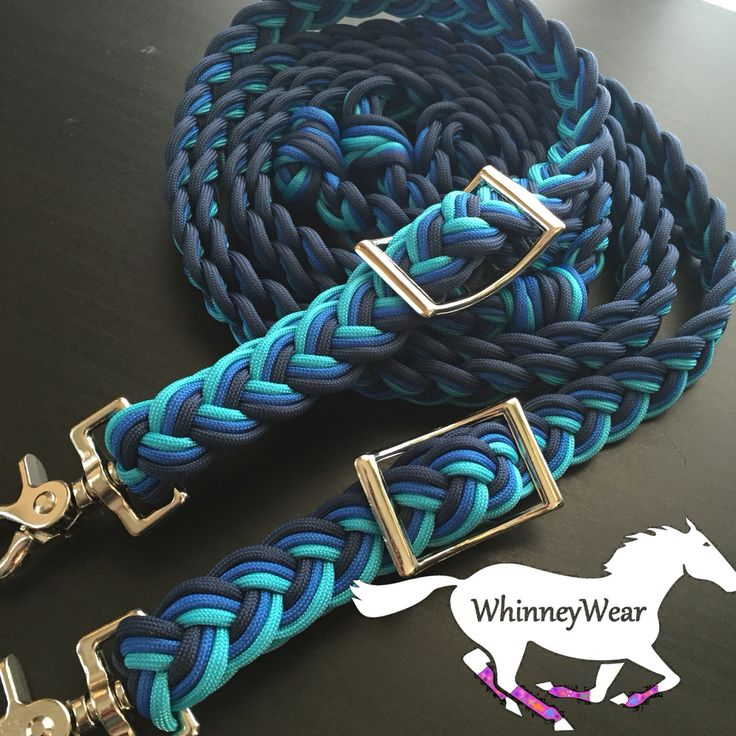 Blue hue ombré braided reins, www.whinneywear.com
