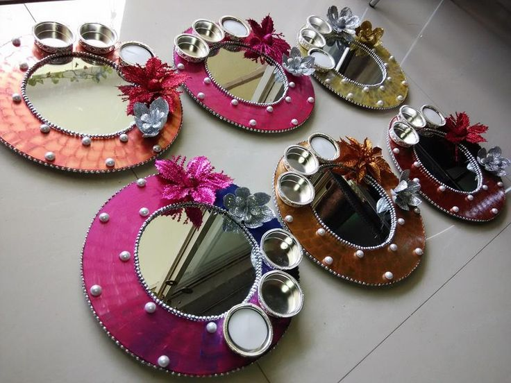 170 best images about diy on pinterest recycling story for Aarti thali decoration with clay