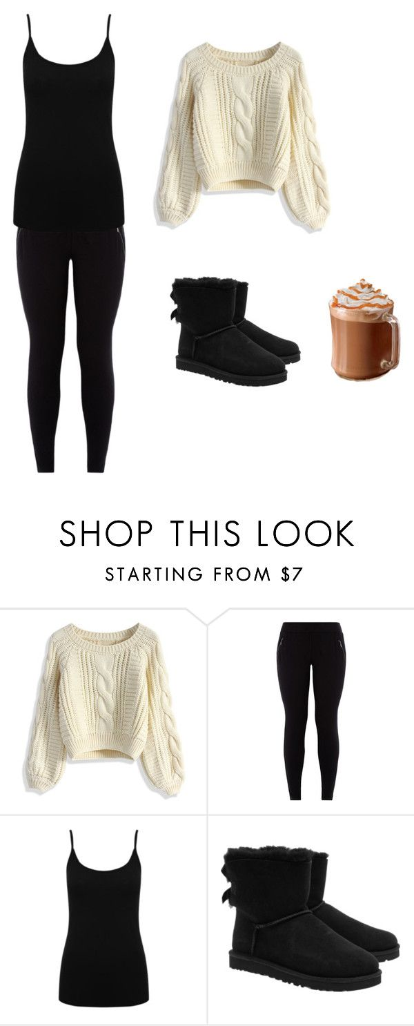 """winter outfit"" by kitten0000 ❤ liked on Polyvore featuring Chicwish, M&Co and UGG Australia"