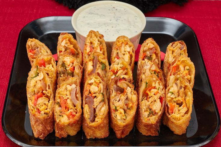 This Buffalo Chicken Rolls Recipe is perfect to watch the Falcons play the Patriots in the Superbowl. This Big Game appetizer is great Game Day food.
