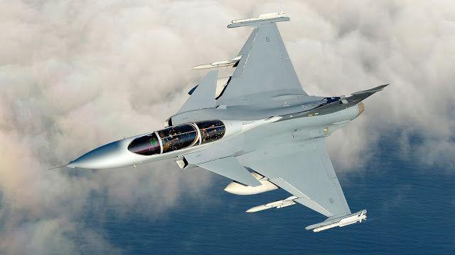 Saab JAS 39 Gripen Inflight Ocean Aircraft Wallpaper 4022