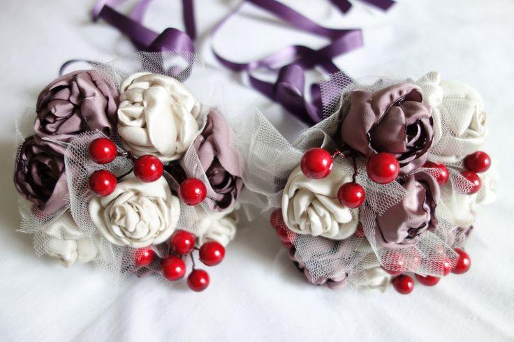Satin Fabric Wedding Bouquets by threefoldmade on Etsy