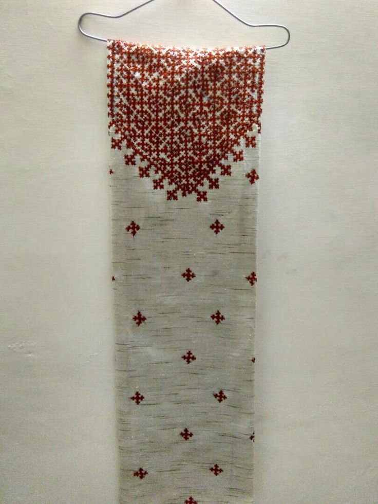 Sindhi stitch hand embroidered kurta on khadi base Available for 700