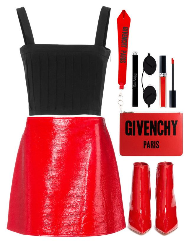 Untitled #2297 by seventeene on Polyvore featuring polyvore mode style Courrèges Gianvito Rossi Givenchy John Lewis Christian Dior fashion clothing