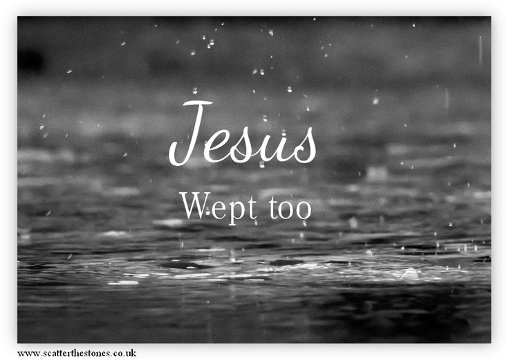 When we suffer, when pain feels never ending, when communication breaks down, and walls are built to separate, Jesus wept too