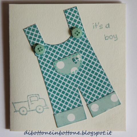 baby salopette card