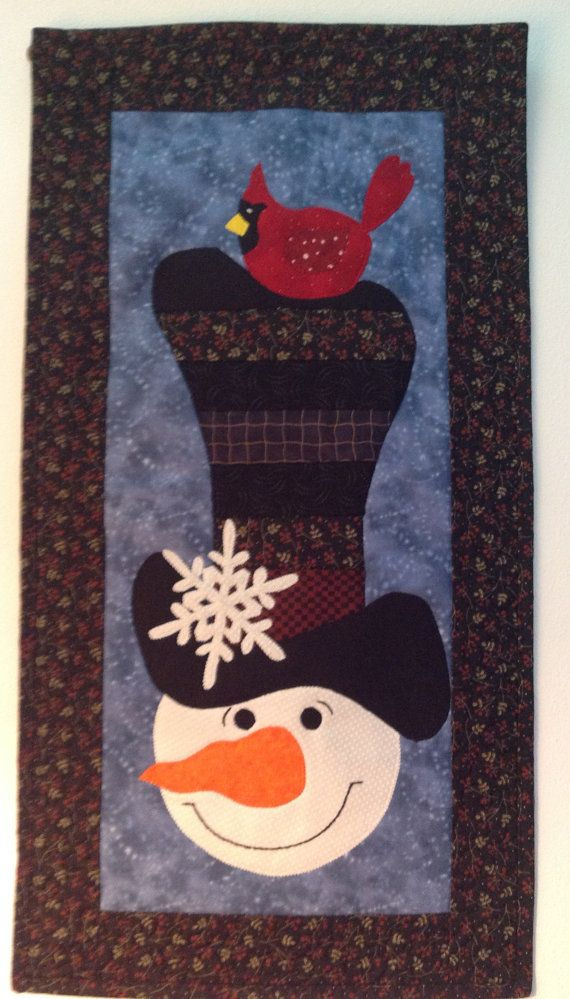 Quilted Snowman Wall Hanging by KrasoskisKrafts on Etsy