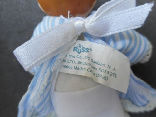 Russ-Berrie-amp-Co-Miniature-Porcelain-Baby-Doll-5-034-Precious