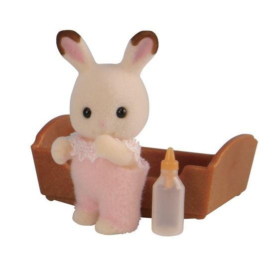 Sylvanian Families Chocolate Rabbit Baby Pink