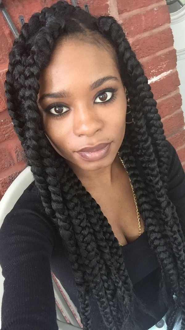 Excellent 1000 Ideas About Jumbo Box Braids On Pinterest Box Braids Short Hairstyles For Black Women Fulllsitofus