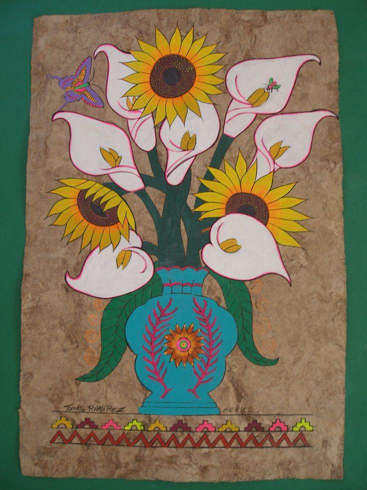 56 best amate images on pinterest mexican folk art for Folk art craft paint