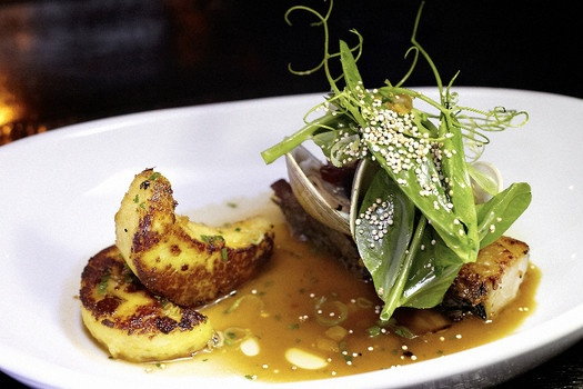 GNOCCHI ALLA ROMANA (pork belly, clams, snap pea tendrils) - click image to continue to story
