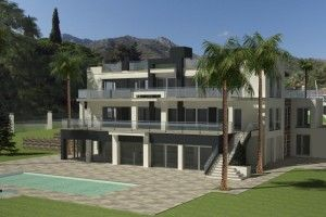 Wow Wow Wow, Location, Location, Location! Occupying one of the best plots in Southern Europe this stunning contemporary home boasts the up most in stylish and luxury living. Contemporary Villa in Cascadas de Camojan Marbella a home fit for a King!