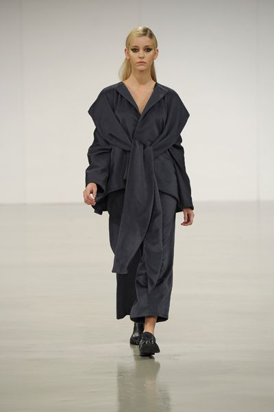 A/W 2013-14 GRADUATE COLLECTION #gfw2013 #graduatefashionweek #suit #womenswear #finalcollection #aw13 #aw14 #minimal #minimalist #lessismore #cashmere #knots #drapery #moulage #slingback #brogue #model #kimono #style