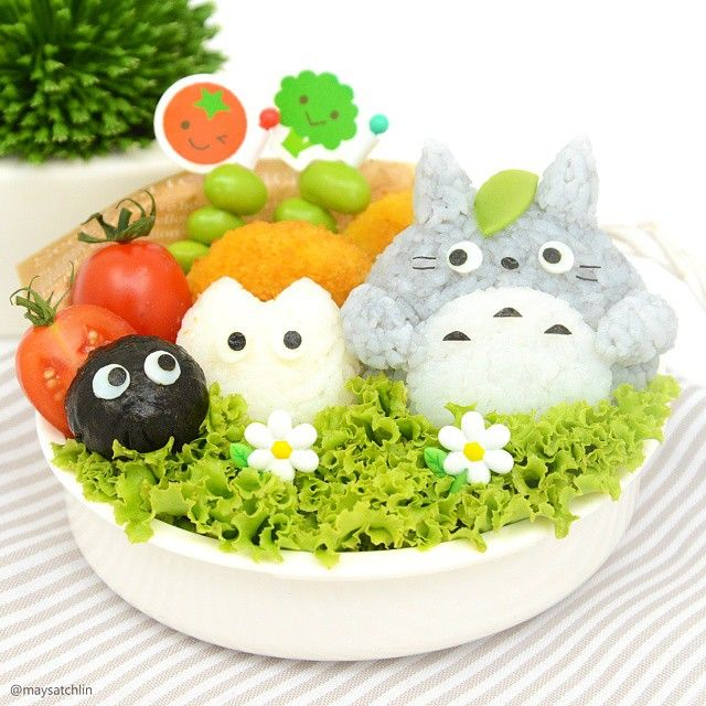 Totoro bento Post your bento pics with #myanimelife in the description and they'll appear on myanimelife.com