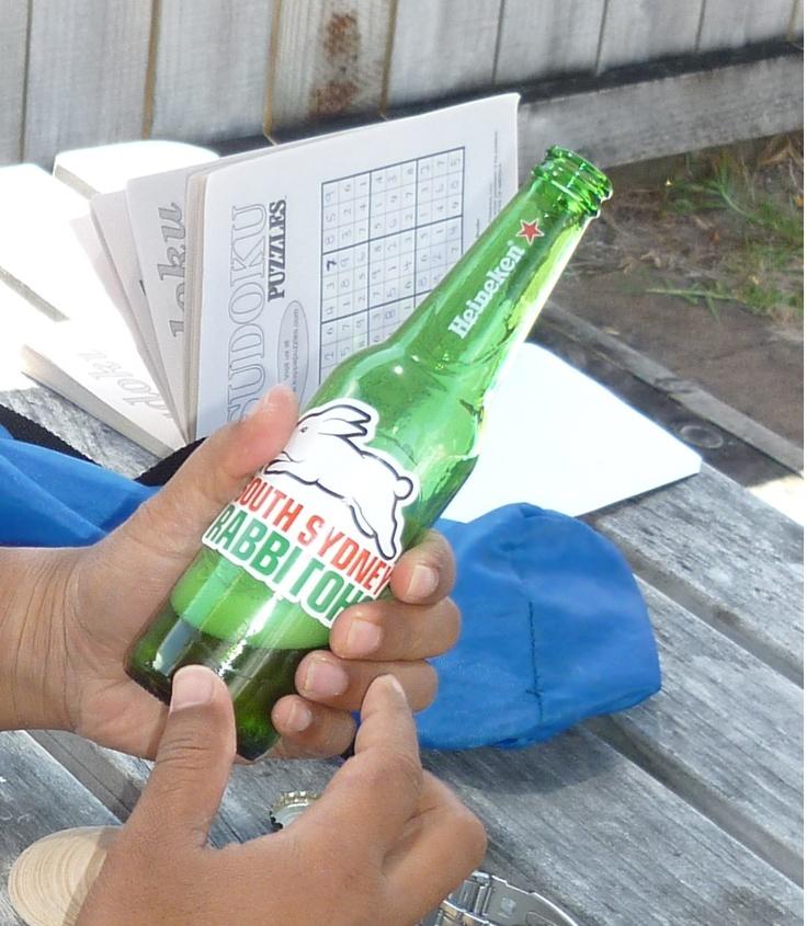 NRL Rabbitohs Beer