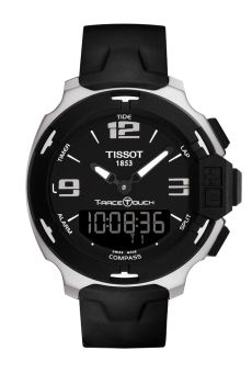TISSOT Touch of a fingertip on the screen to measure all your times and laps with its chronograph (add/split/lap) options, look at how far you have come on the logbook, which records all your previous performances