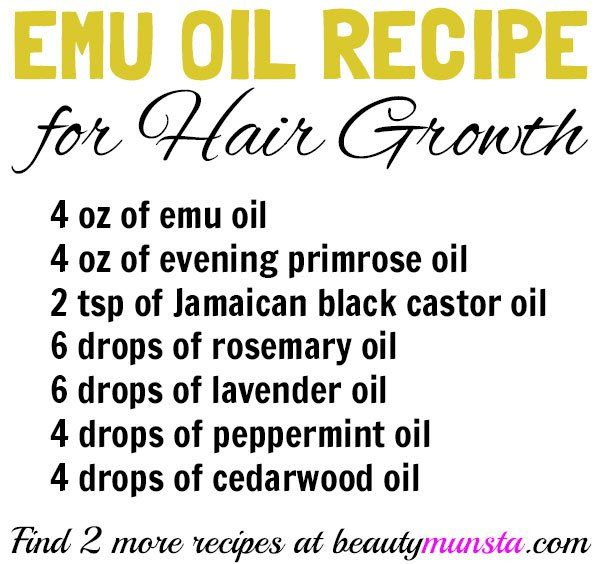 emu oil recipes for hair growth