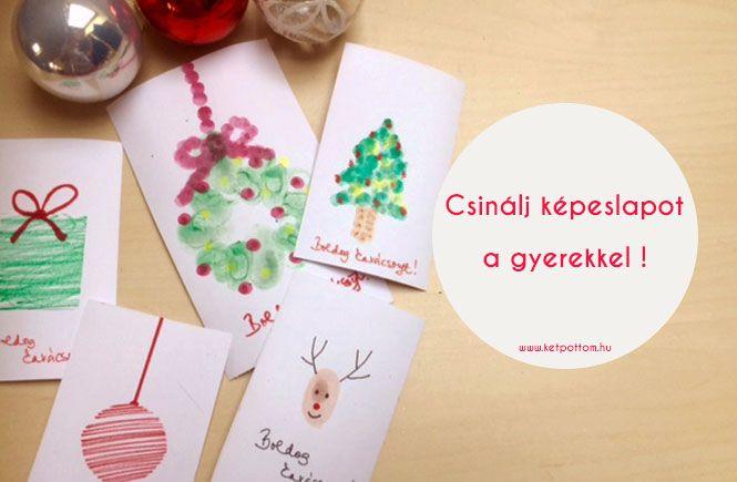 DIY képeslapok közösen a gyerekkel
