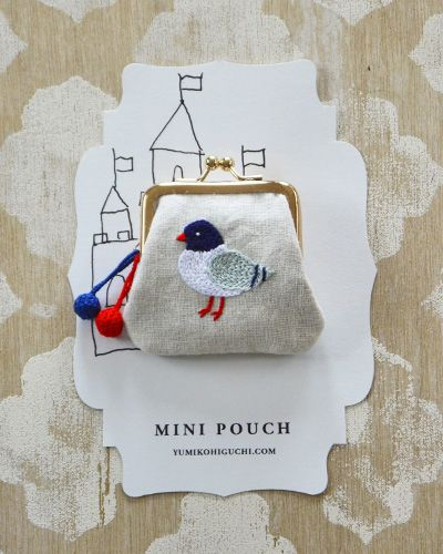 pigeon mini pouch. yumiko higuchi.
