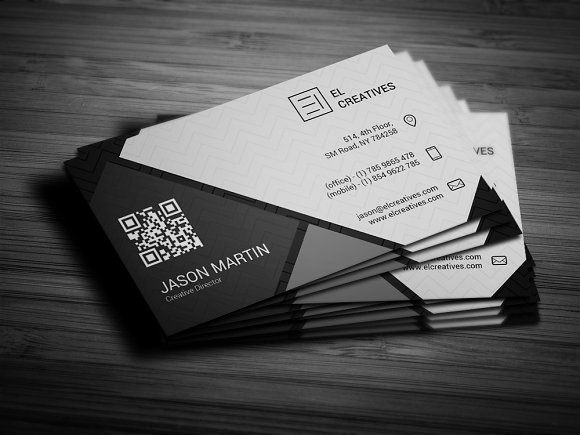 Dark Creative Business Card by bouncy on @creativemarket