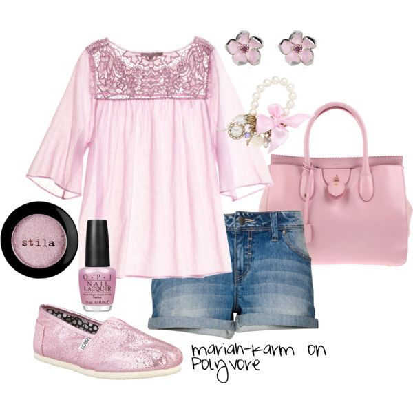 Pretty Pale Pink, created by mariah-karm on Polyvore: Shoes, Pretty In Pink, Pretty Pink, Pale Pink, Pretty Pale, Pink Outfits, Clothing Outfits, Pink Toms, Mariahkarm