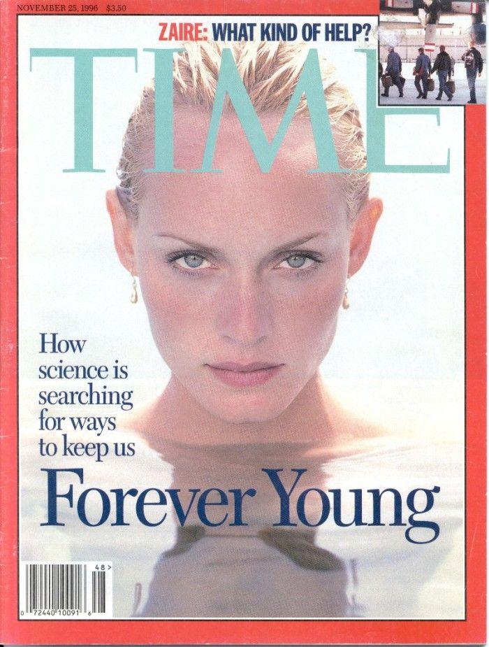 Un'impaginazione semplice e pulita per una copertina di Time magazine da cui è possibile estrarre tutti gli elementi cardine della rivista.